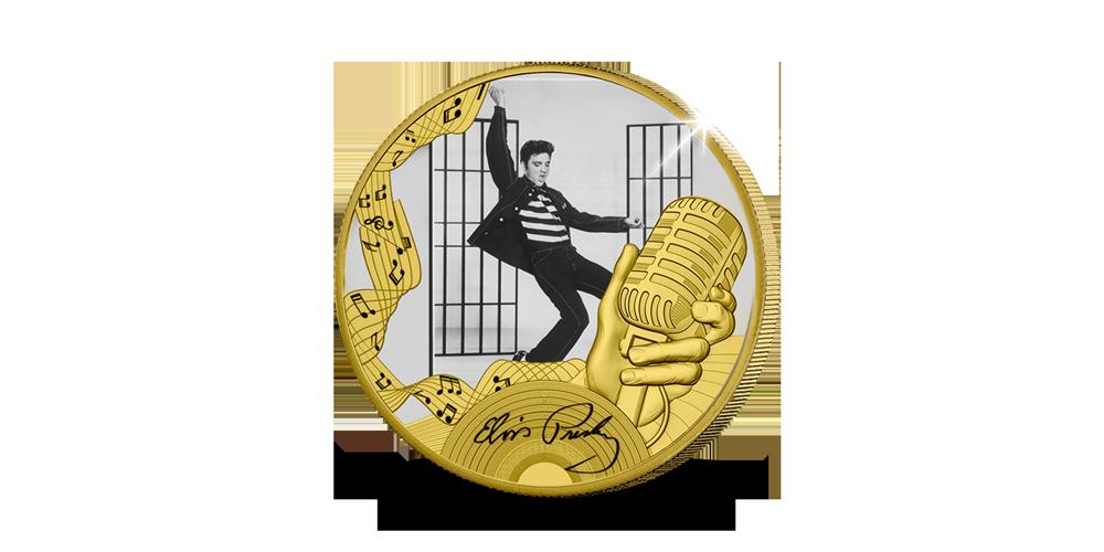 Elvis Presley – Jailhouse Rock, 24-karaats goud vergulde munt