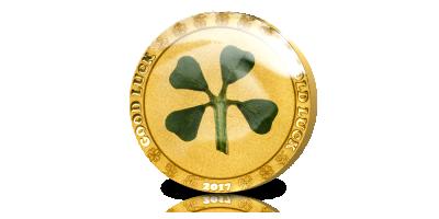 De Officiële Klavertjevier Munt van 2017 in goud (.9999)