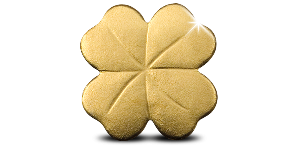 Klavertje vier, Puur gouden munt, Smallest gold