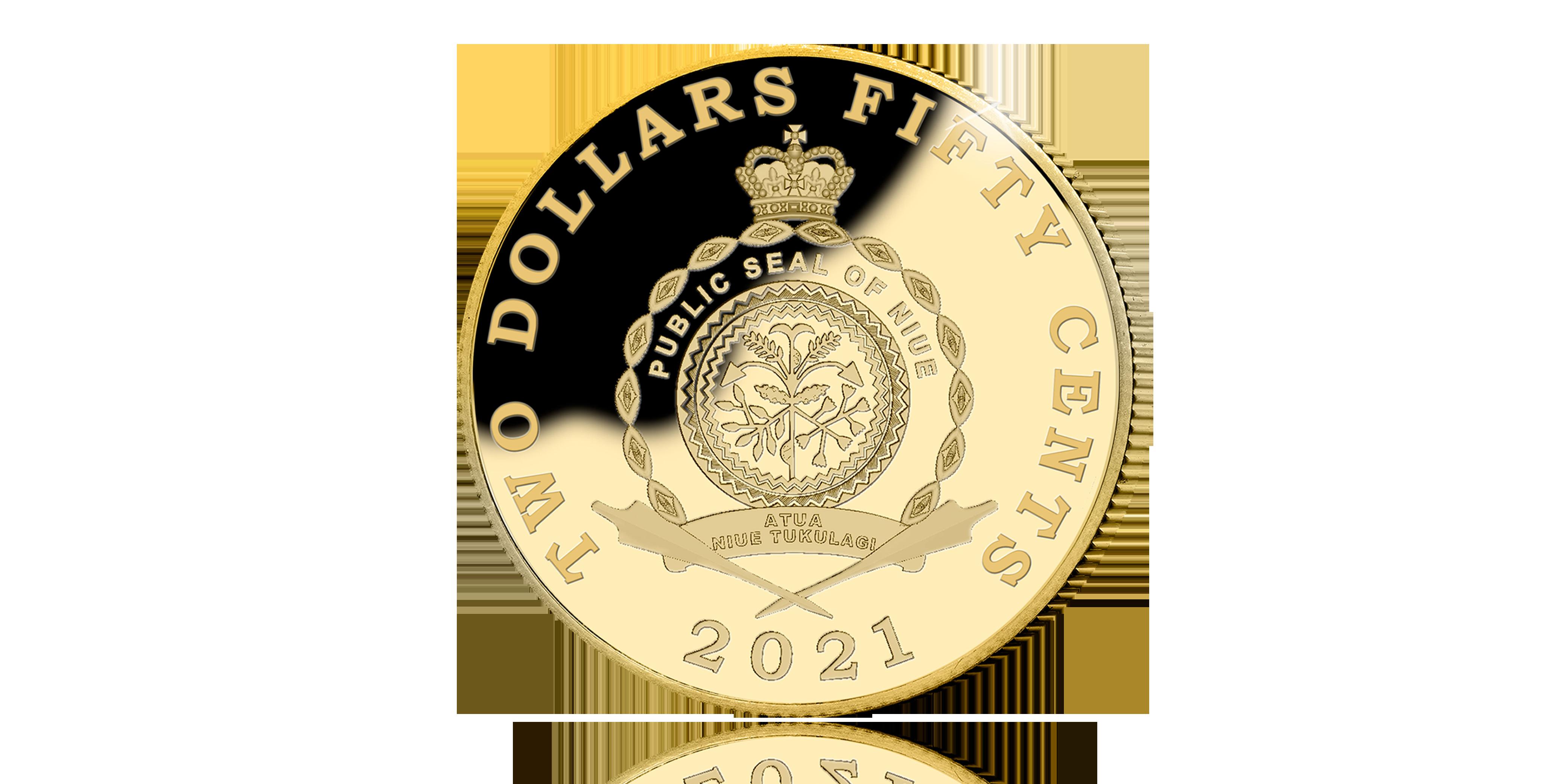 Herdenk de 200ste sterfjaar van Napoleon Bonaparte met een 24-karaats gouden munt keerzijde