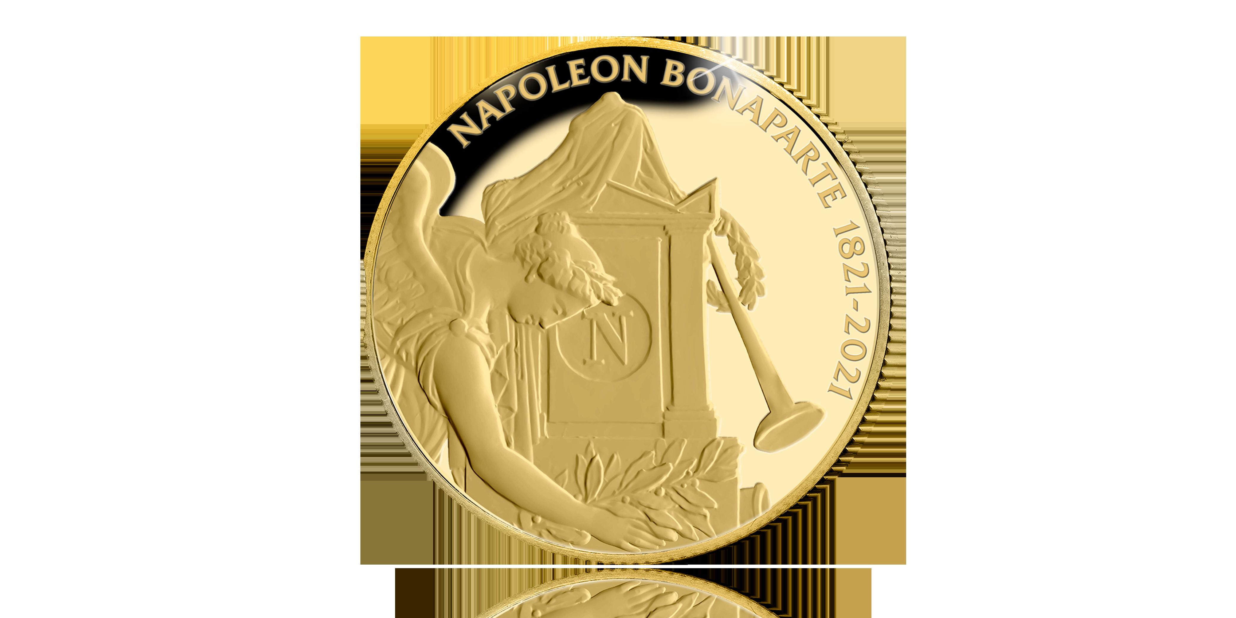 Herdenk de 200ste sterfjaar van Napoleon Bonaparte met een 24-karaats gouden munt voorzijde