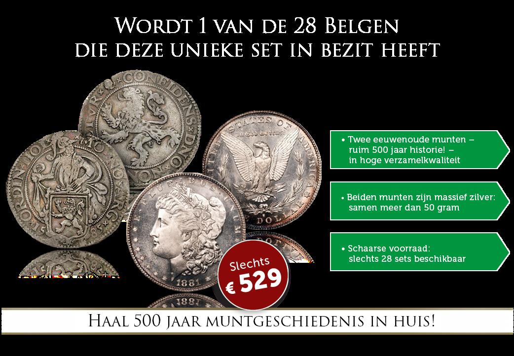 Bestel nu deze exclusieve set historische munten!