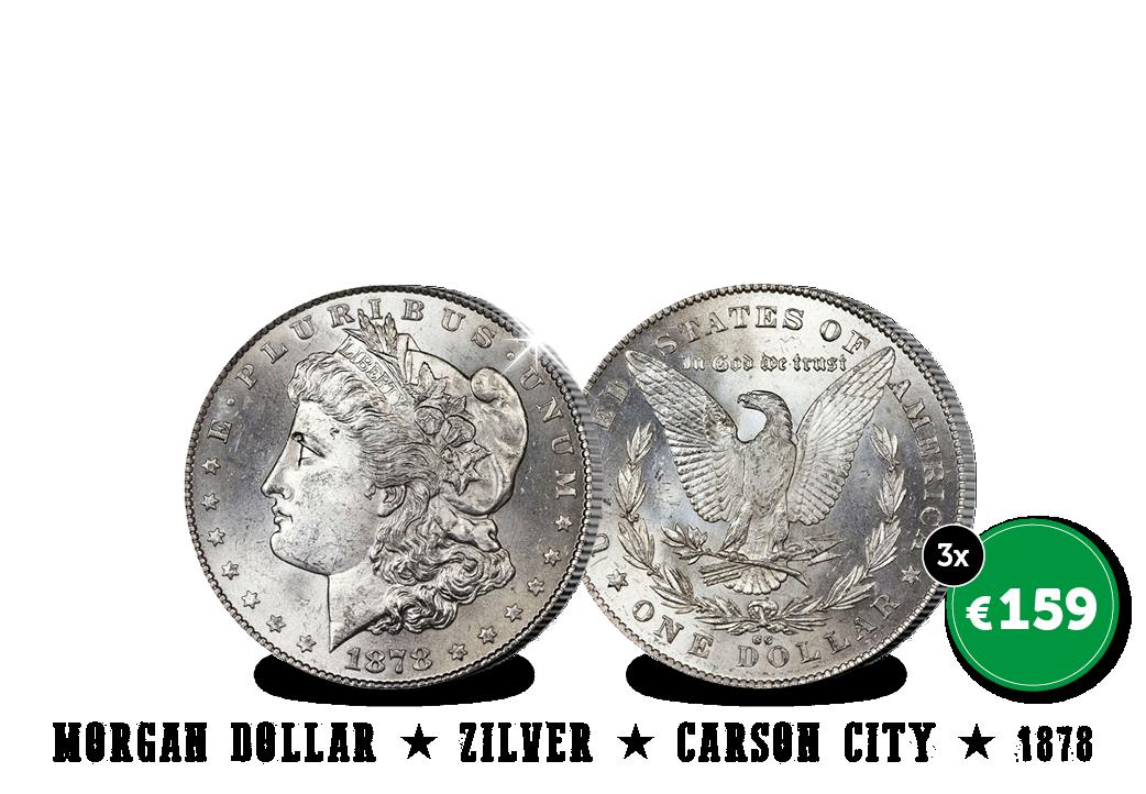 De Carson City zilveren Morgan Dollar