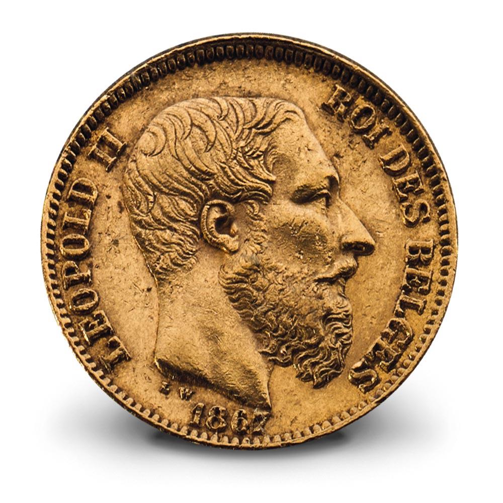 20 frank, Leopold II, 1867, Belgische geschiedenis