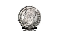 Leopold 2, 1866-1887, massief zilveren munten