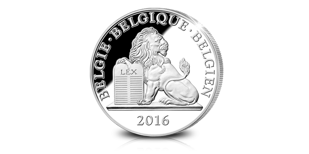leopold 1, platina, 2016, Herdenkingsuitgifte