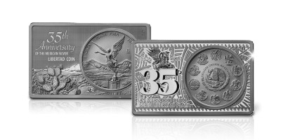 Limited Edition '1982 – 2017' Libertad in 93,405 gram puur zilver