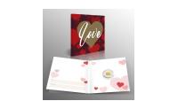 Geluksbaar in 1/100 Oz puur goud met Love cadeaukaart