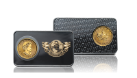 Officiele Bullion set Maple Leaf en American Eagle, Puur gouden munten