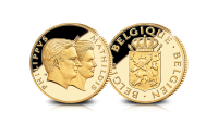 Filip en Mathilde Dubbelportret, Gouden herdenkingsuitgifte, Belgisch Koningspaar