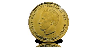 De Officiële Staatsmedaille 25 jaar Koning Boudewijn