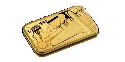 75 jaar bombardement op Morstel - 5 gram puur goud