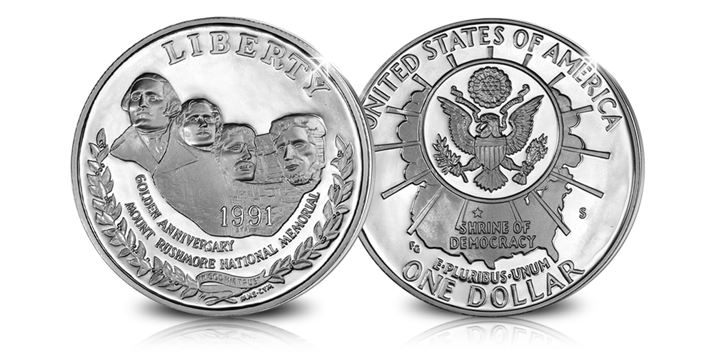 Mount Rushmore, Dollar, Massief zilver