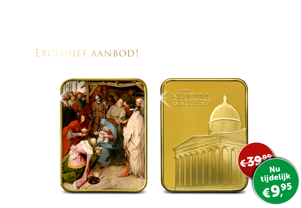 """Gelimiteerde kunstbaar verguld in 24-karaats goud """"De aanbidding der Wijzen."""""""