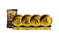 Complete set van 15 Officiële Dollarmunten! Native American Quarters voorzijdes