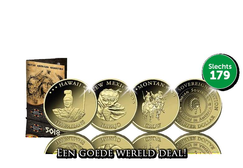 15 stuks goud vergulde Dollars | € 179,-