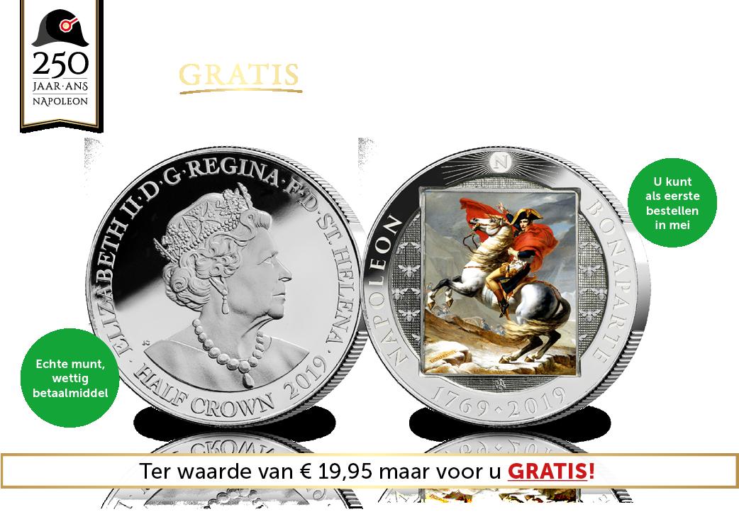 Vraag vandaag nog uw Gratis officiële Napoleon Herdenkingsmunt aan