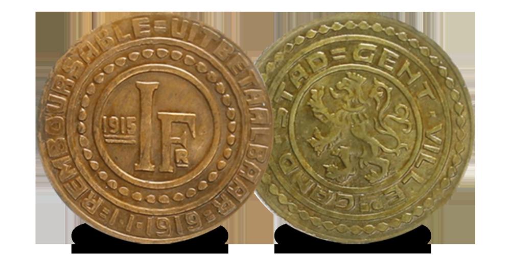 Gents Noodgeld uit de Eerste Wereldoorlog 1 frank