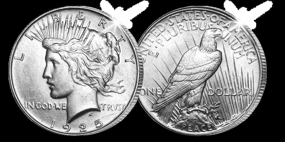 Amerikaanse Peace Dollar, 1925, Zilveren munt