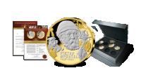 Herdenkingsuitgifte, Beroemdheden uit de Vaderlandse geschiedenis, Bruegel, Zwaar verguld en gedeeltelijk verrijkt met platina