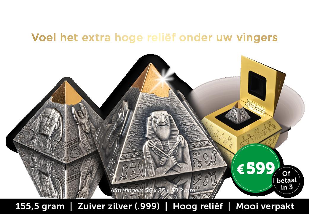Exclusieve 3D Piramide-munt!