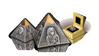 Koop munten online - 3D munten - de piramide van Chafra in 3D