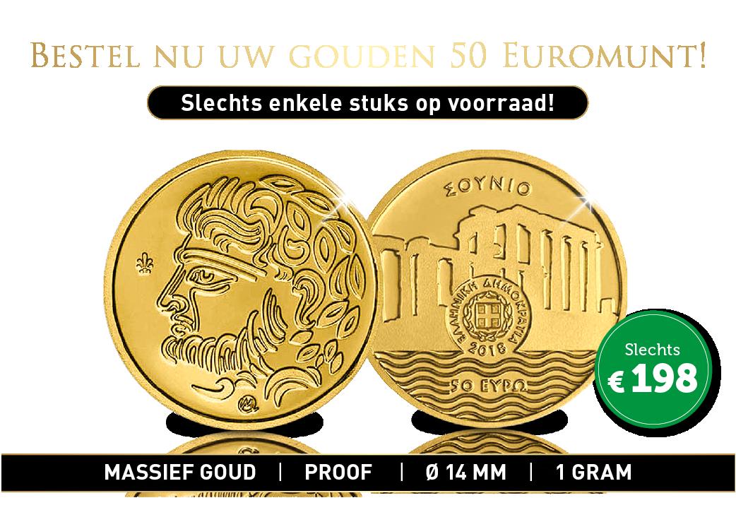 Een 24-karaats gouden € 50 Euromunt!
