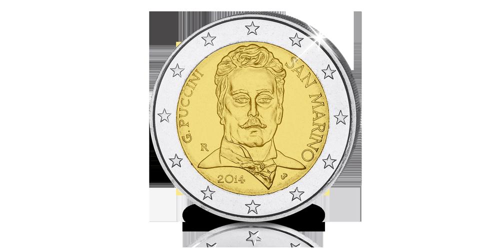 €2-Herdenkingsmunt ter ere van de 90ste sterfdag van legendarische componist Puccini