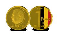herdenkingsmunt, 1 Frank, 2001, Albert II