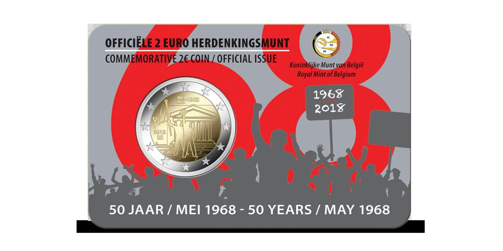 Herdenkingseuro, Belgie, revolte 1968-2018