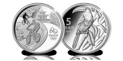 Op ontdekking in Rio de Janeiro met deze prachtige 5 Real Proof munt
