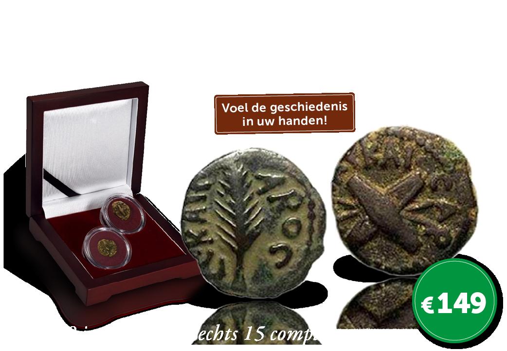 2 Bronzen Bijbelse munten