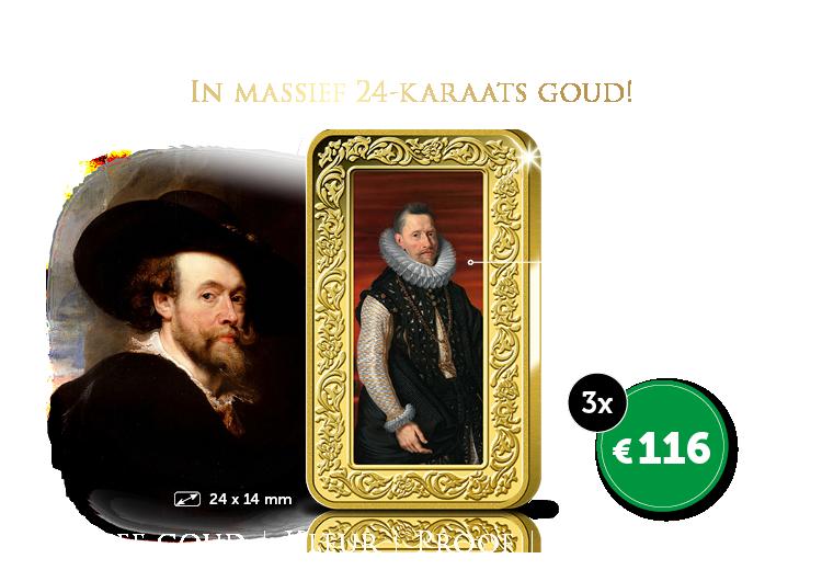 Bestel nu dit meesterwerk van Rubens In massief 24-karaats goud!