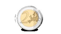 10 jaar Euro herdacht op een € 2-Herdenkingsmunt uit San Marino