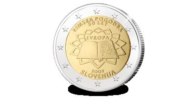 De exclusieve €2 Slovenië 2007 Verdrag van Rome