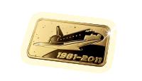 24-karaats goudbaar Space Shuttle