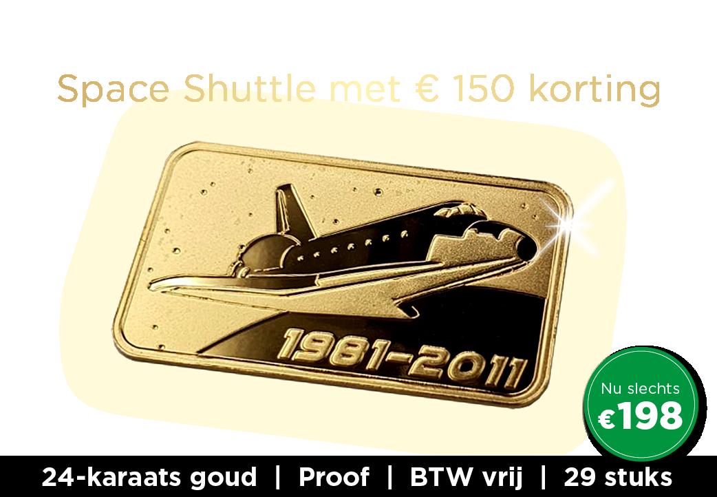 24-karaats goudbaar – De Space Shuttle