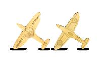 Koop munten online - Gouden munt - Spitfire - 24-karaats goud voorzijde en keerzijde
