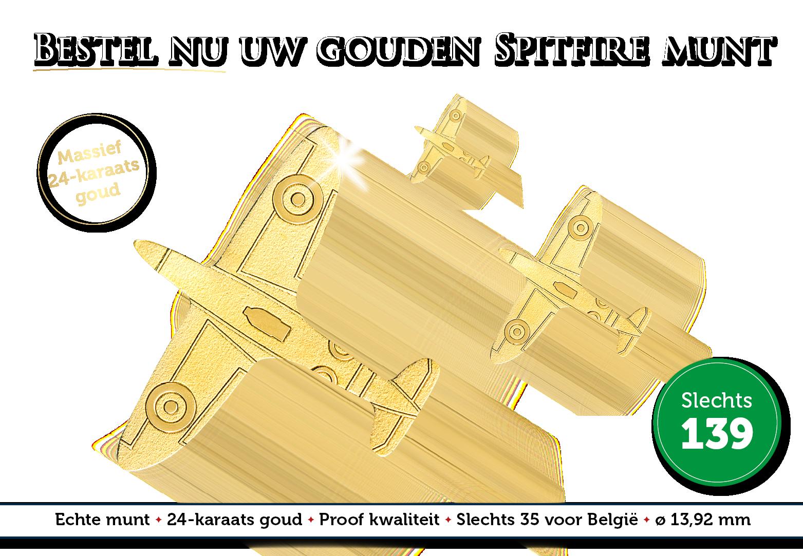 Het legendarische jachtvliegtuig in 24-karaats massief goud!
