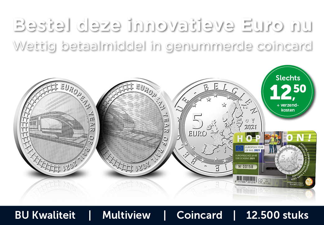 Bestel deze innovatieve Euro nu Wettig betaalmiddel in genummerde coincard