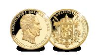 Herdenkingsuitgifte, Belgische stamvaders set, Exclusief bij HBM, Leopold, Filip, Zwartgouden Stamboom