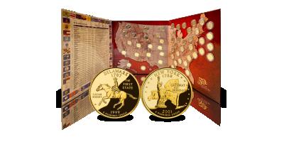 Uw State Quarters goud vergulde Dollarset