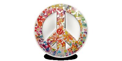 Summer of Love peace teken munt