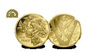 Prestigieuze herdenkingsmunt in 1/4 Oz puur Fairmined goud voor en keerzijde