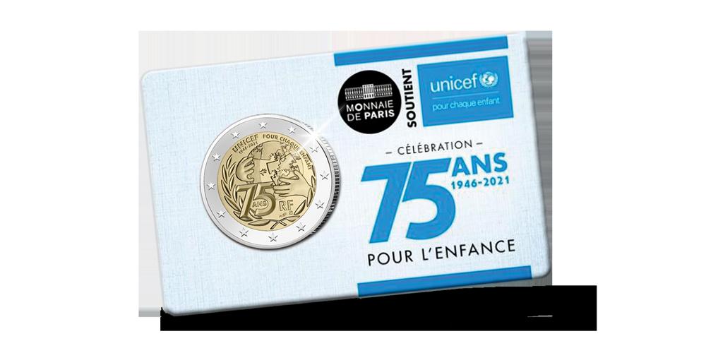 2 euro herdenkingsmunt unicef in proof kwaliteit voorzijde