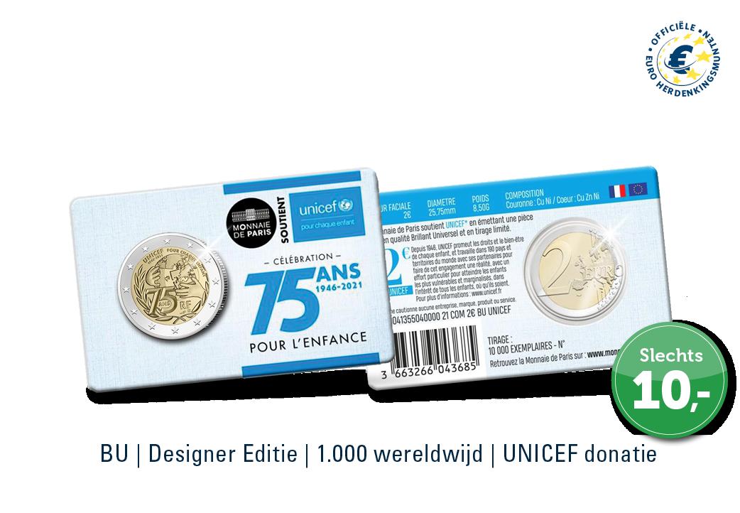 EXCLUSIEF | € 2 Herdenkingsmunt UNICEF