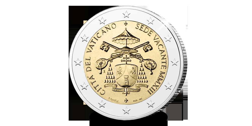 Exclusieve 2 euro munt uit Vaticaanstad - Sede Vacante
