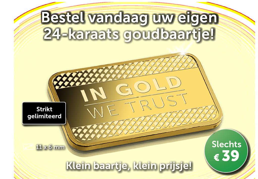 Gouden Aanbod | Klein goudbaartje voor een klein prijsje!