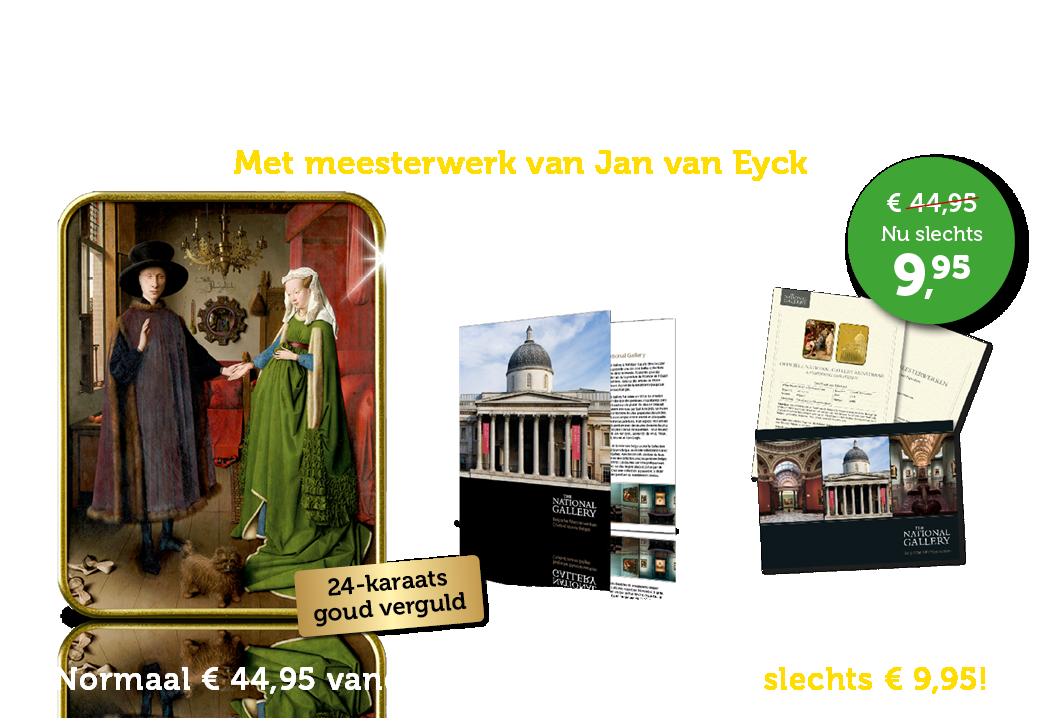 Strikt gelimiteerde 24-karaats goud vergulde baar met het meesterwerk van Van Eyck