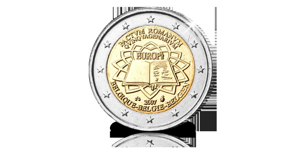 50 jaar verdrag Rome, Herdenkingsmunt, Euro